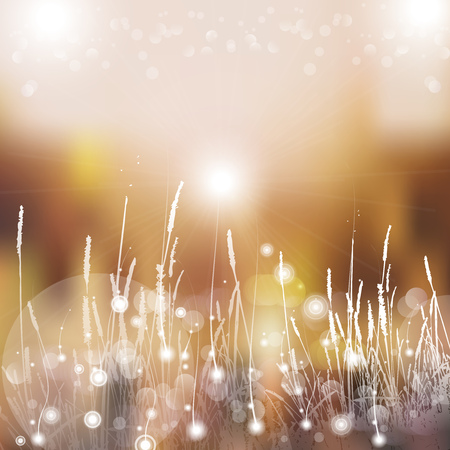 Vector abstract defocused bokeh lights nature spring summer background. Stylish hipster blurry background with bokeh effect for holidays, parties, birthdays.