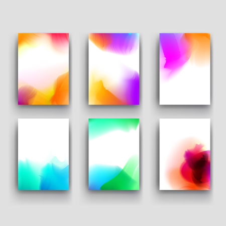watercolour: Abstract watercolor stains background. Gradient Mesh stains