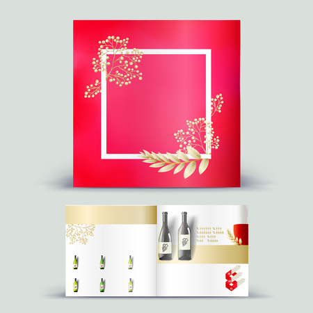 mag: Corporate booklet promotion template with color elements. Vector company brichure business style for advertising, report or guideline.