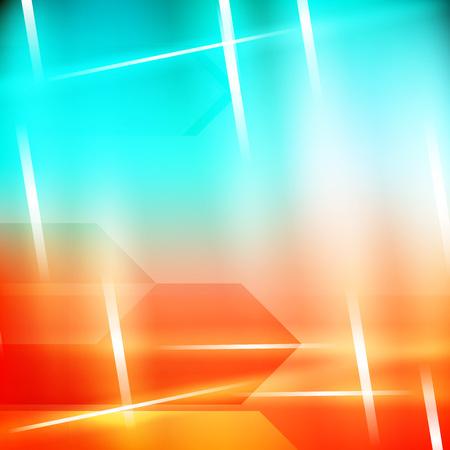 diagonal: Abstract geometric gems and crystals glowing background with sparks and shining lines.