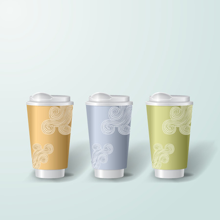posicionamiento de marca: Mockup template for branding and product designs. Isolated realistic cups for coffee or tea and unique design.