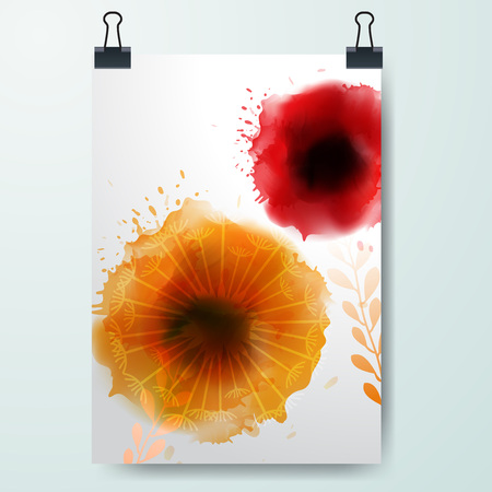 Poster minimal Design Template, Business watercolor banner, can be used for Brochure, Report Illustration