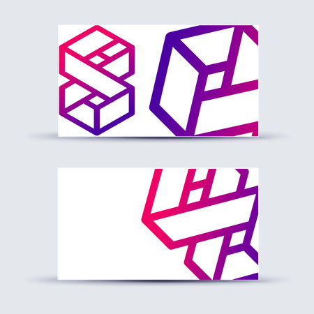 skip: Abstract blank name card template for business artwork. eps 10