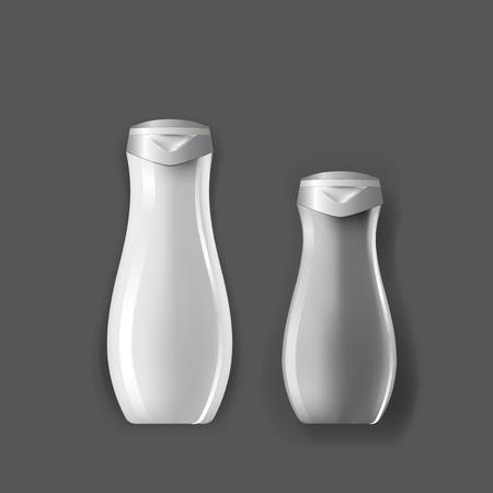 Mockup plantilla para la marca y diseños de productos. Aislado botellas de plástico realista con diseño único. Fácil de usar para la publicidad de la marca y la comercialización.