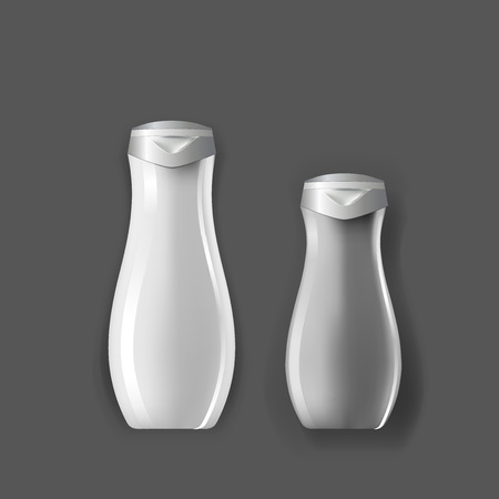 Mockup template for branding and product designs. Isolated realistic plastic bottles with unique design. Easy to use for advertising branding and marketing.