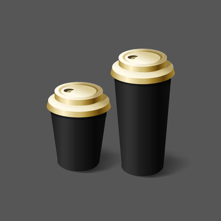 Plantilla de maqueta para diseños de marca y producto. Tazas aisladas realistas para café o té y diseño único. Fácil de usar para publicidad de marca y marketing. Vectores