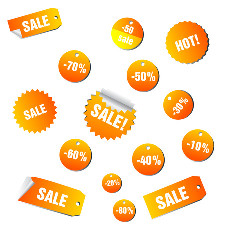 Sale and promotion tag collection Vector illustration