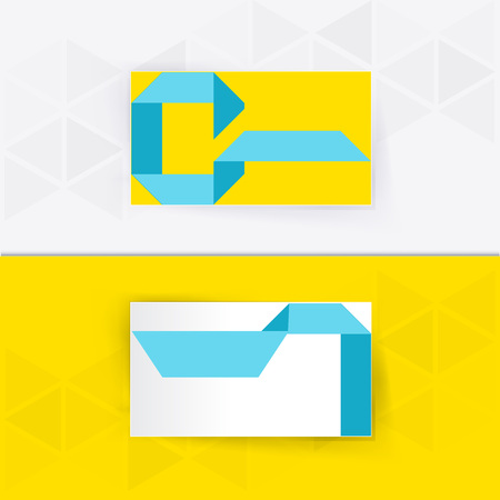 businesscard: Abstract blank name card template for business artwork. eps 10