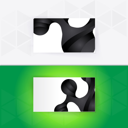fresh idea: Abstract blank name card template for business artwork. eps 10