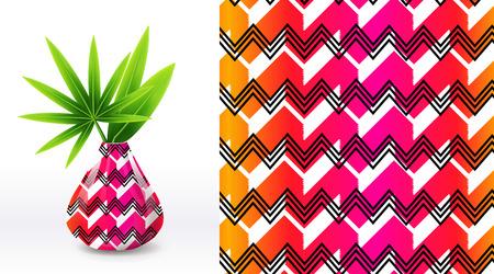 夏シームレスのユニークな花パターンのセットは、繊維セラミック鍋で示されます。布にシルク スクリーン印刷や刺繍に使用できます。eps 10