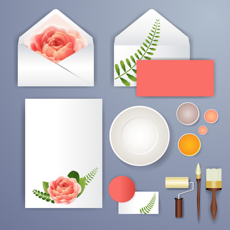 dinner party: Wedding card or invitation with abstract floral background for wedding agency. Elegance pattern with mesh flowers. Floral illustration in modern minimal style for your business. Illustration