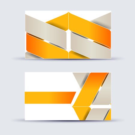 Abstract blank name card template for business artwork. eps 10