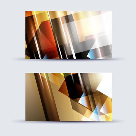 saltar: Plantilla en blanco abstracta de la tarjeta conocida para las ilustraciones del negocio. Eps 10