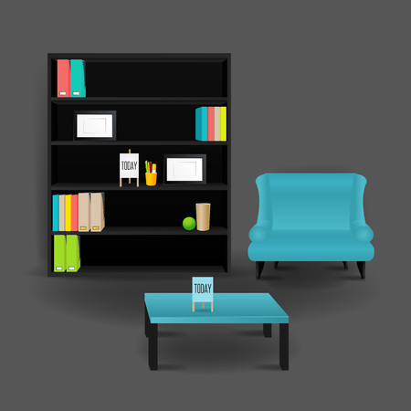 chandelier background: Modern Business conversation room mockup template. Vector. Illustration