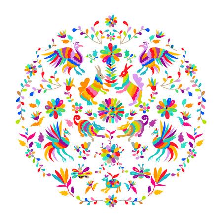 ベクトル民俗メキシコ大富刺繍パターン  イラスト・ベクター素材