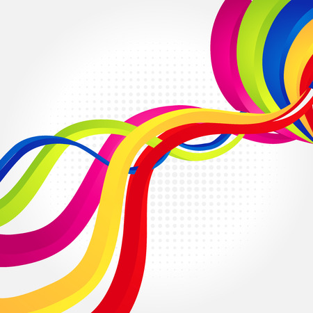A vector abstract rainbow gradient mesh multicolored vibrant background.