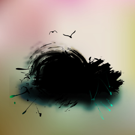 brushed: Watercolor Grunge colorful banner background.