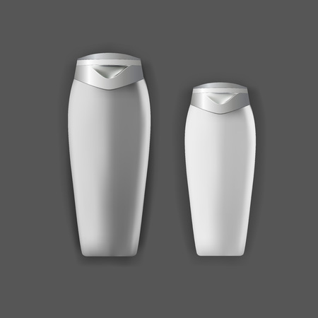 posicionamiento de marca: Mockup template for branding and product designs. Isolated realistic plastic bottles with unique design. Easy to use for advertising branding and marketing.