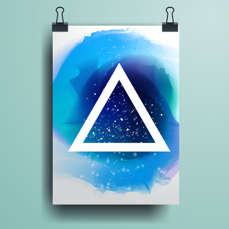 multiply: Poster minimal Design Template, Business banner, can be used for Brochure, Report