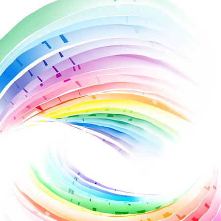 versicolor: Vector pastel abstract rainbow gradient mesh multicolored vibrant background. Illustration