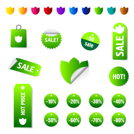 Sale and promotion tag collection