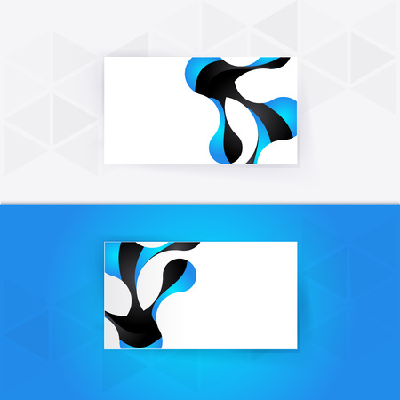 skip: Abstract blank name card template for business artwork Illustration
