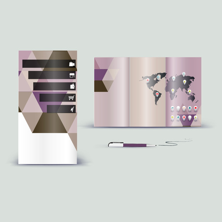 guideline: Corporate booklet promotion template with color elements. Vector company brichure business style for advertising, report or guideline.