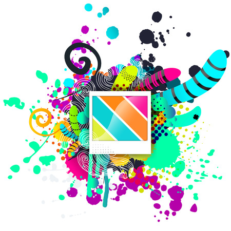 Creative template background. Abstract elements concept, vector illustration