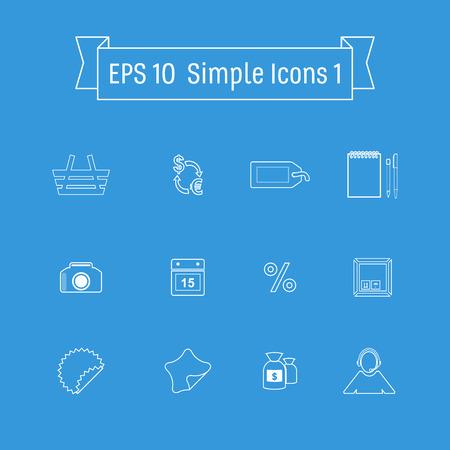 money packs: Vector buttons icon set vector. Web symbol set