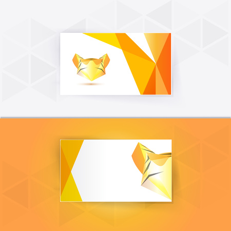 tigresa: Abstract blank name card template for business artwork. eps 10