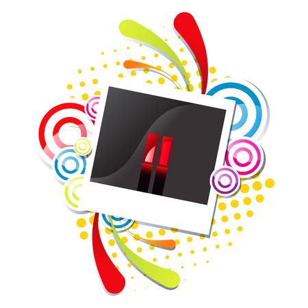 Photo snapshot vector illustration eps 10