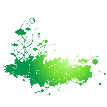 Abstract painted grunge stains background. Vector shapes elements