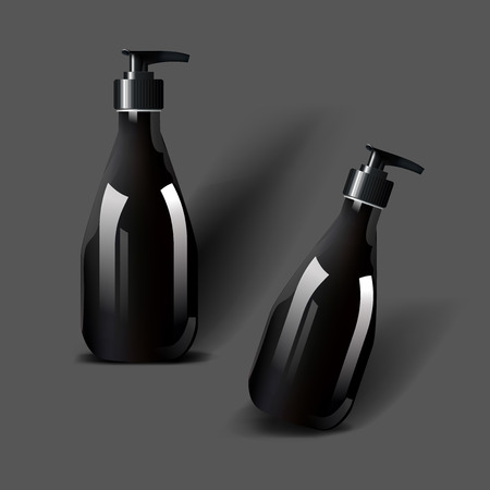 Mockup template for branding and product designs. Isolated realistic plastic bottles with dispenser spray and unique design. Easy to use for advertising branding and marketing. Фото со стока - 89026568
