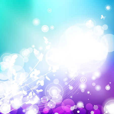 Vector abstract defocused bokeh lights background. Festive blurred background with bokeh effect for parties, nightlife night club.