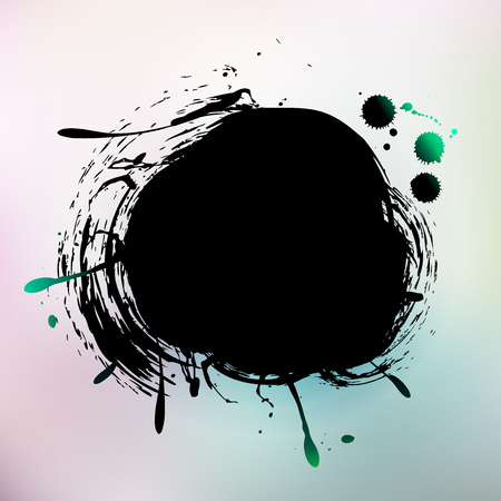 Watercolor Grunge colorful banner background.