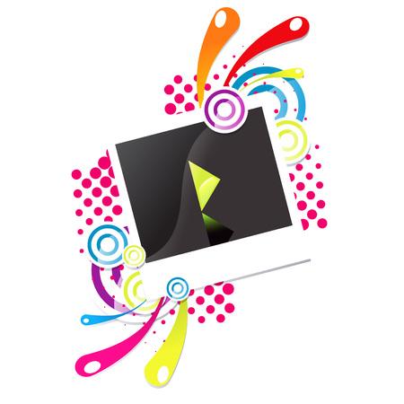 Photo snapshot vector illustration. Illustration