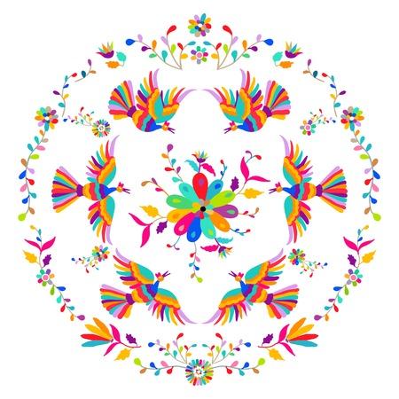 Modello ricamato stile messicano Otomi in stile vittoriano Archivio Fotografico - 89855192