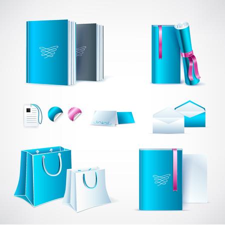 Modello di mockup per il design del marchio e del prodotto Vettoriali