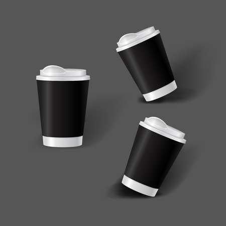 Mockup template for branding and product designs. Isolated realistic cups for coffee or tea and unique design. Easy to use for advertising branding and marketing. Vectores