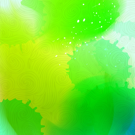 Abstract watercolor stains background. Gradient Mesh stains