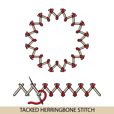 Stitches Blanket Stich Type Vector Collection Of Thread Hand