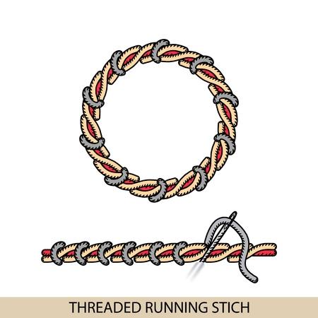 Stitches type vector. Stock Illustratie