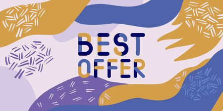 Abstract trendy illustration background media sale post, placard,flat style advertising campaign design elements. Easy customizing art for covers, banners, flyers and posters.