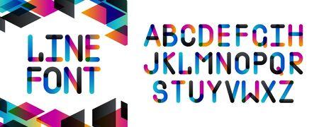 Modern fancy geometry font alphabet. Handwritten font letters. Hand lettering font for your design: slogan, decor postcard, greeting, motivation quotes, message