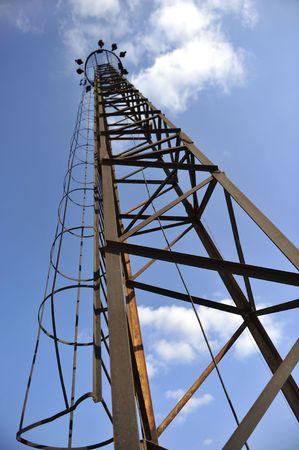 rusty light tower