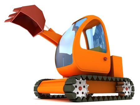 cartoony: cartoony excavator