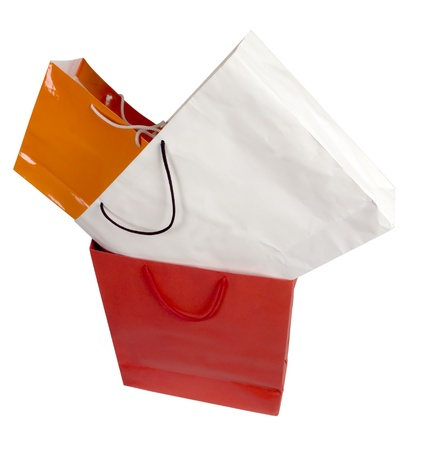 three shopping bags