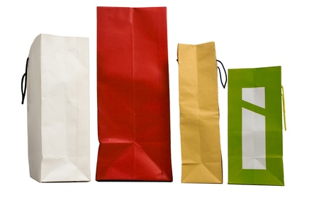 foue paper shopping bags Stock Photo