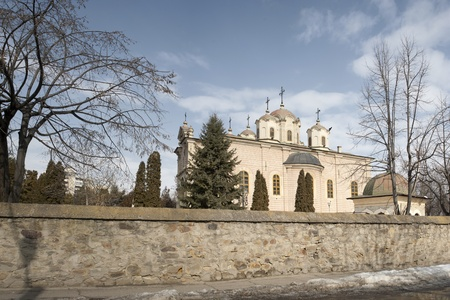Barboi orthodox church from Iasi, Romania. Photo taken from outside the surrounding wall