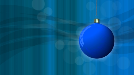 blue Christmas background with a blue globe